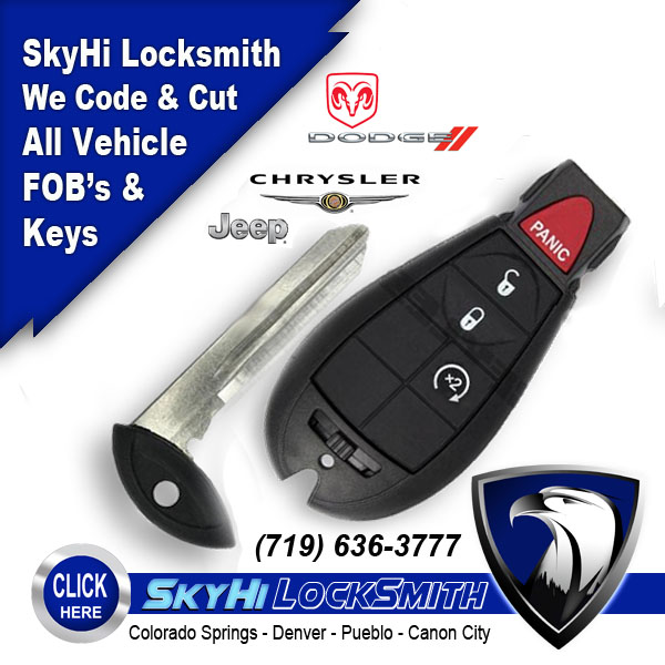 Dodge FOB Remote with Door Lock and Engine Start