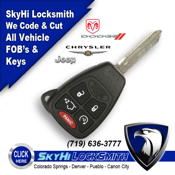 Dodge Car Key Remotes with Hatch Release and Engine Start