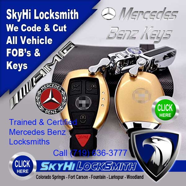 Mercedes fob fort carson 702 421 2776 call skyhi today for Mercedes benz locksmith